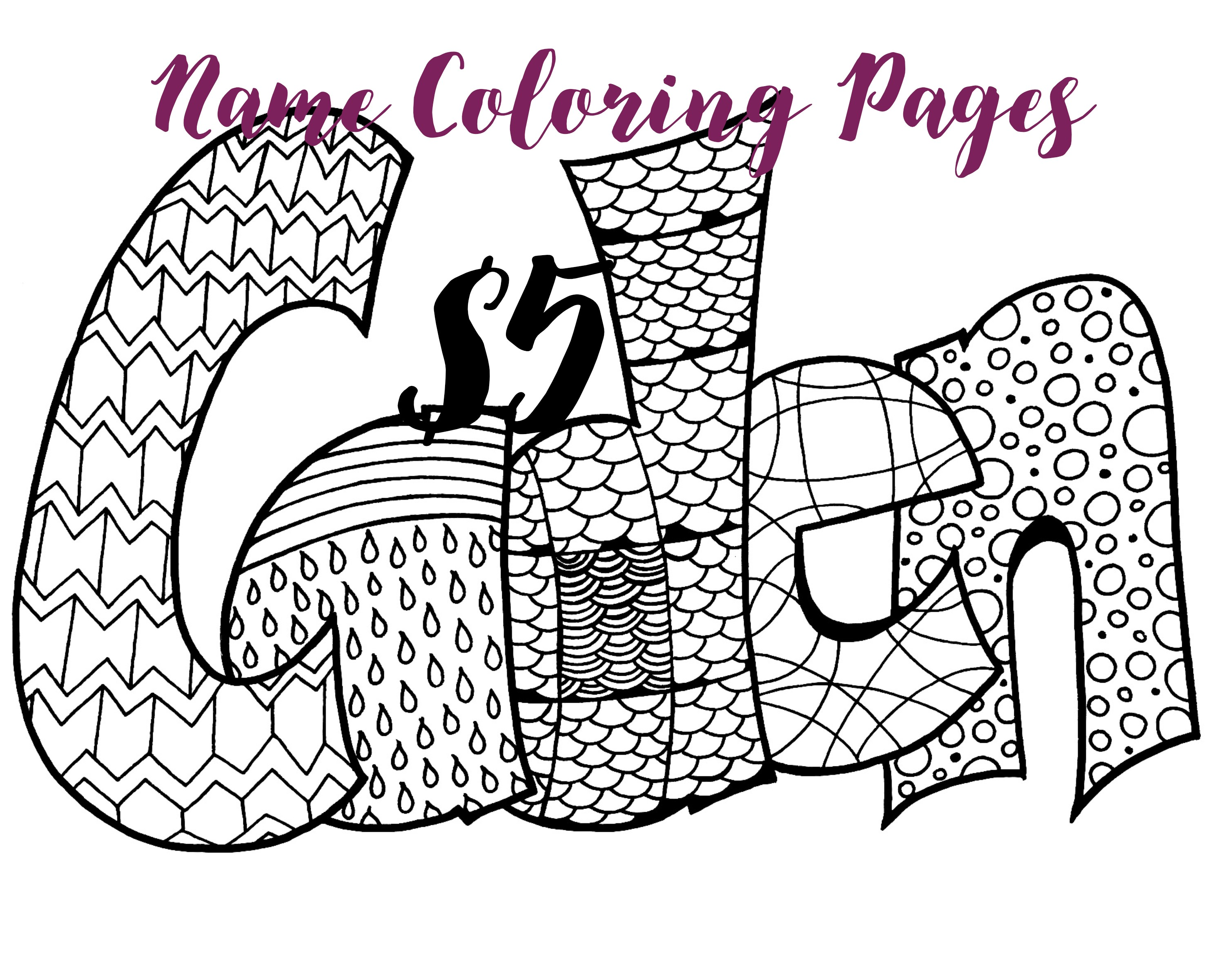 Free Printable Name Coloring Pages At Getcolorings