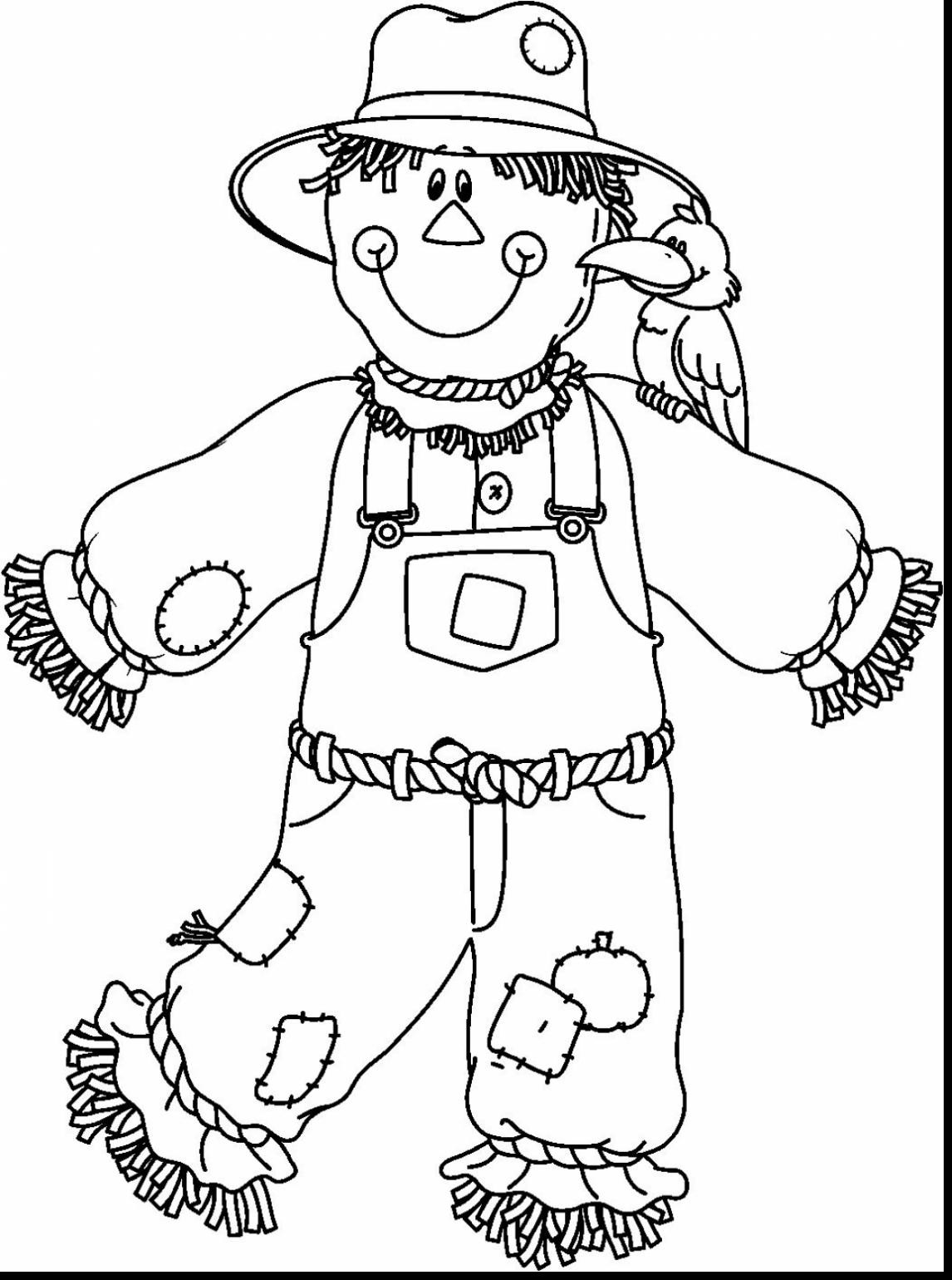 Free Printable Scarecrow Coloring Pages At Getcolorings