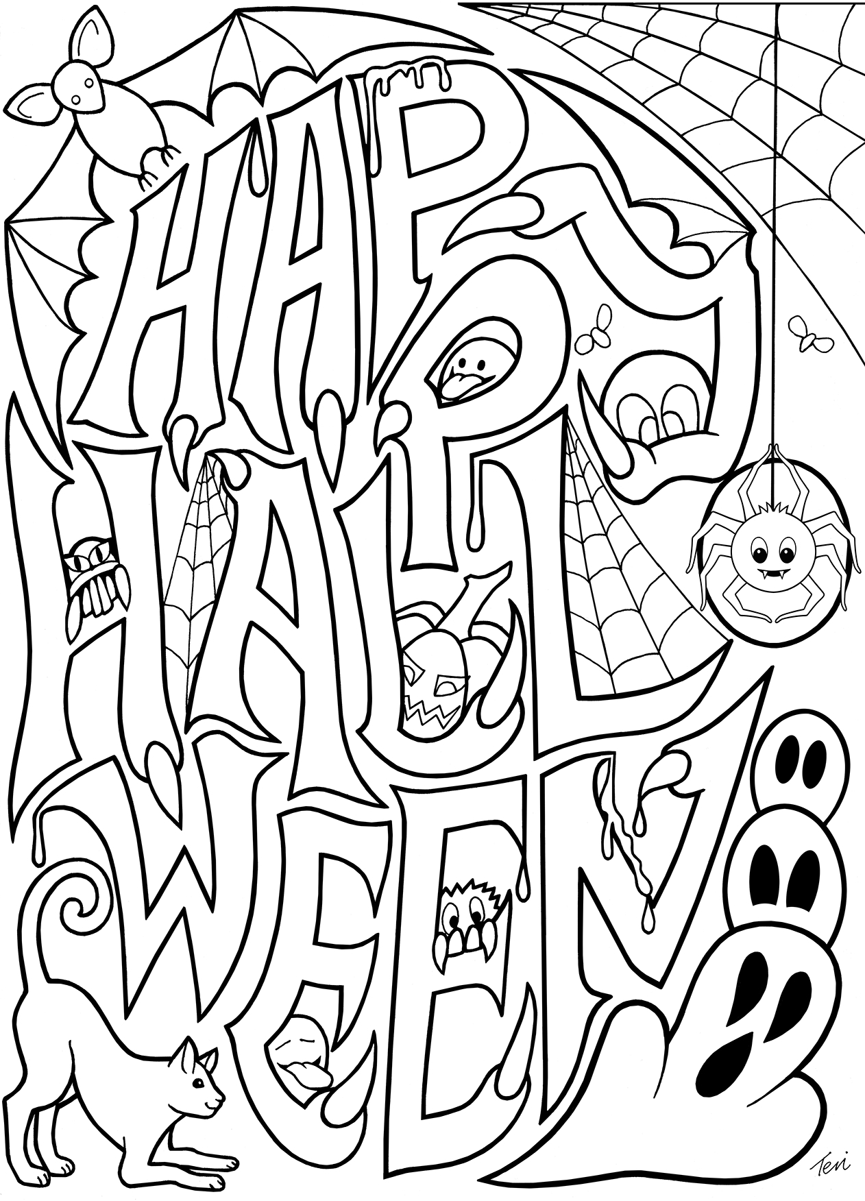 Free Printables Halloween Coloring Pages At Getcolorings