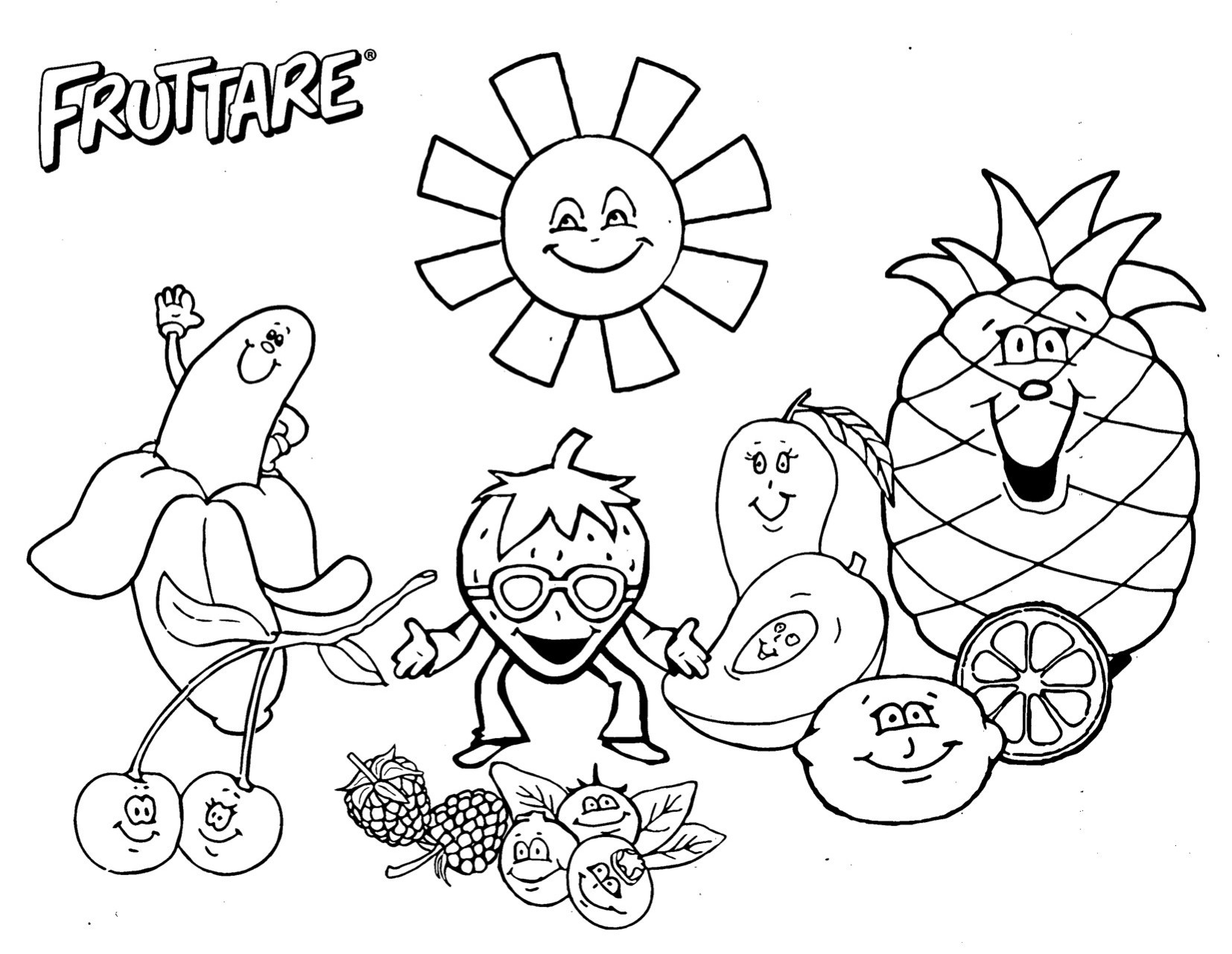 Fruit Salad Coloring Page At Getcolorings