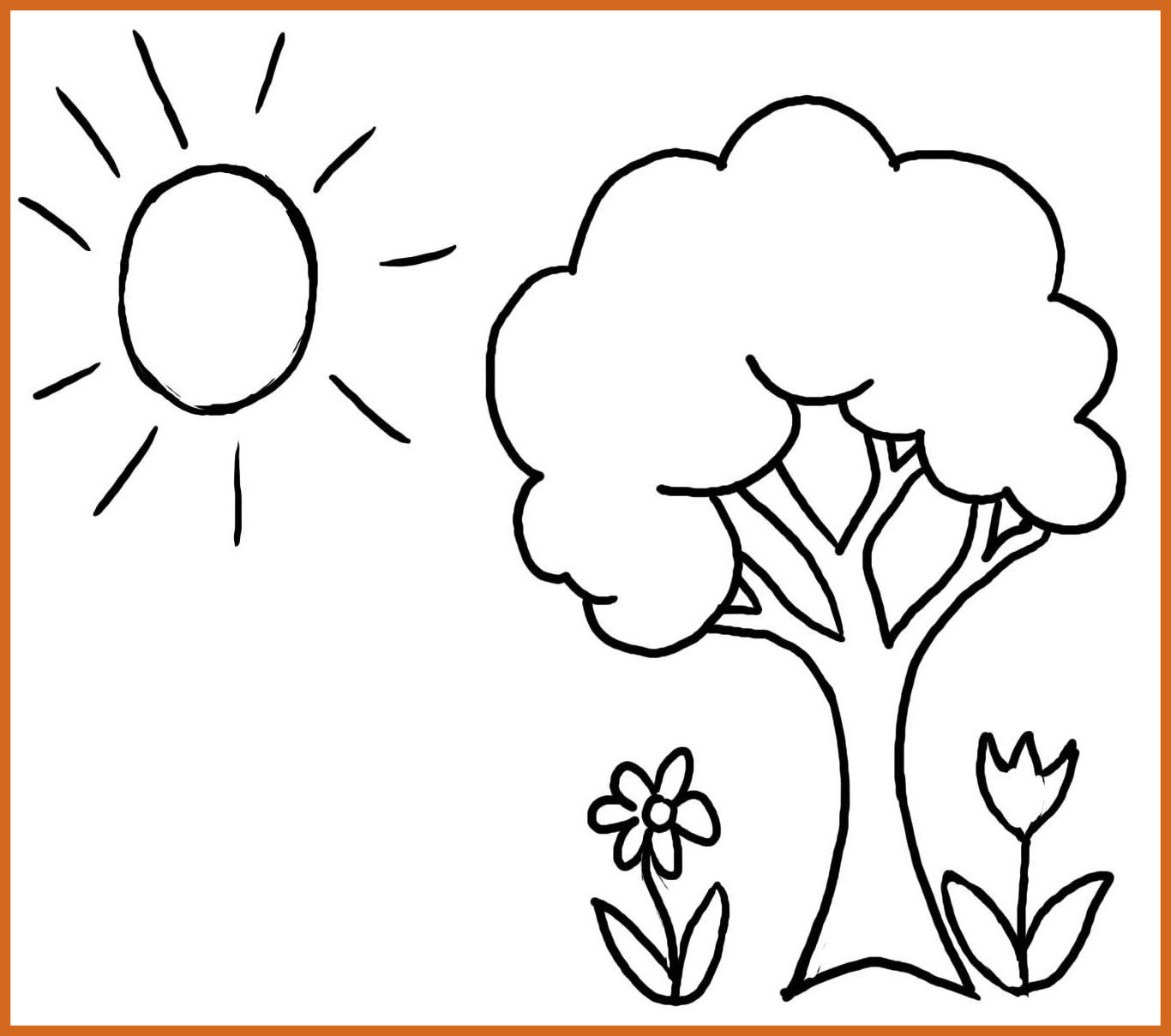 Fruit Tree Coloring Page At Getcolorings