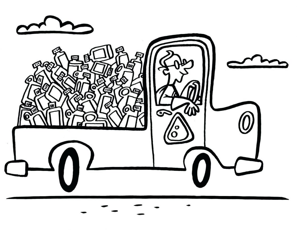Garbage Can Coloring Page At Getcolorings