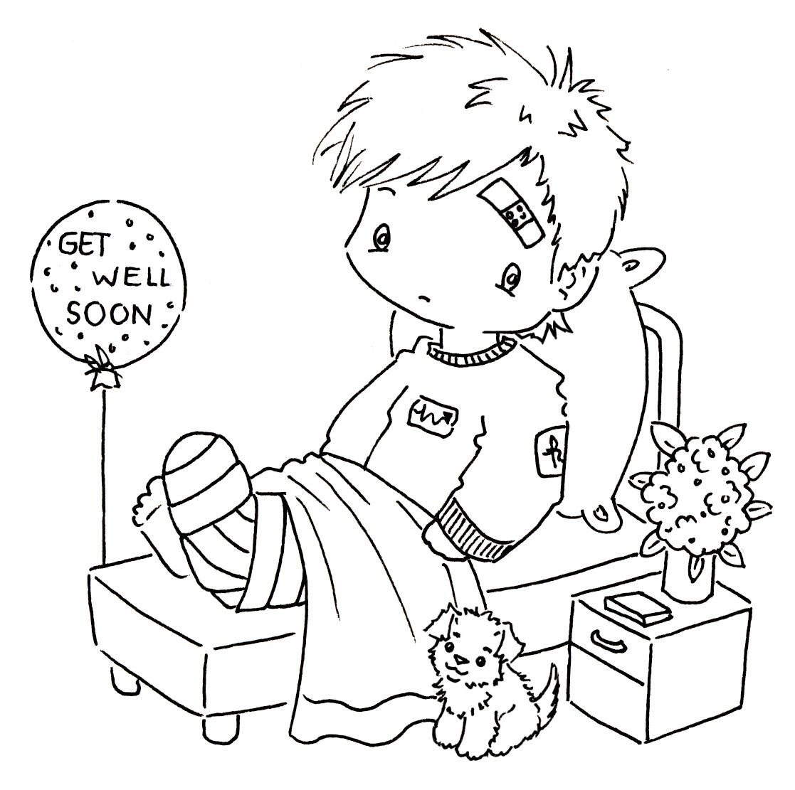 Get Well Card Coloring Page At Getcolorings