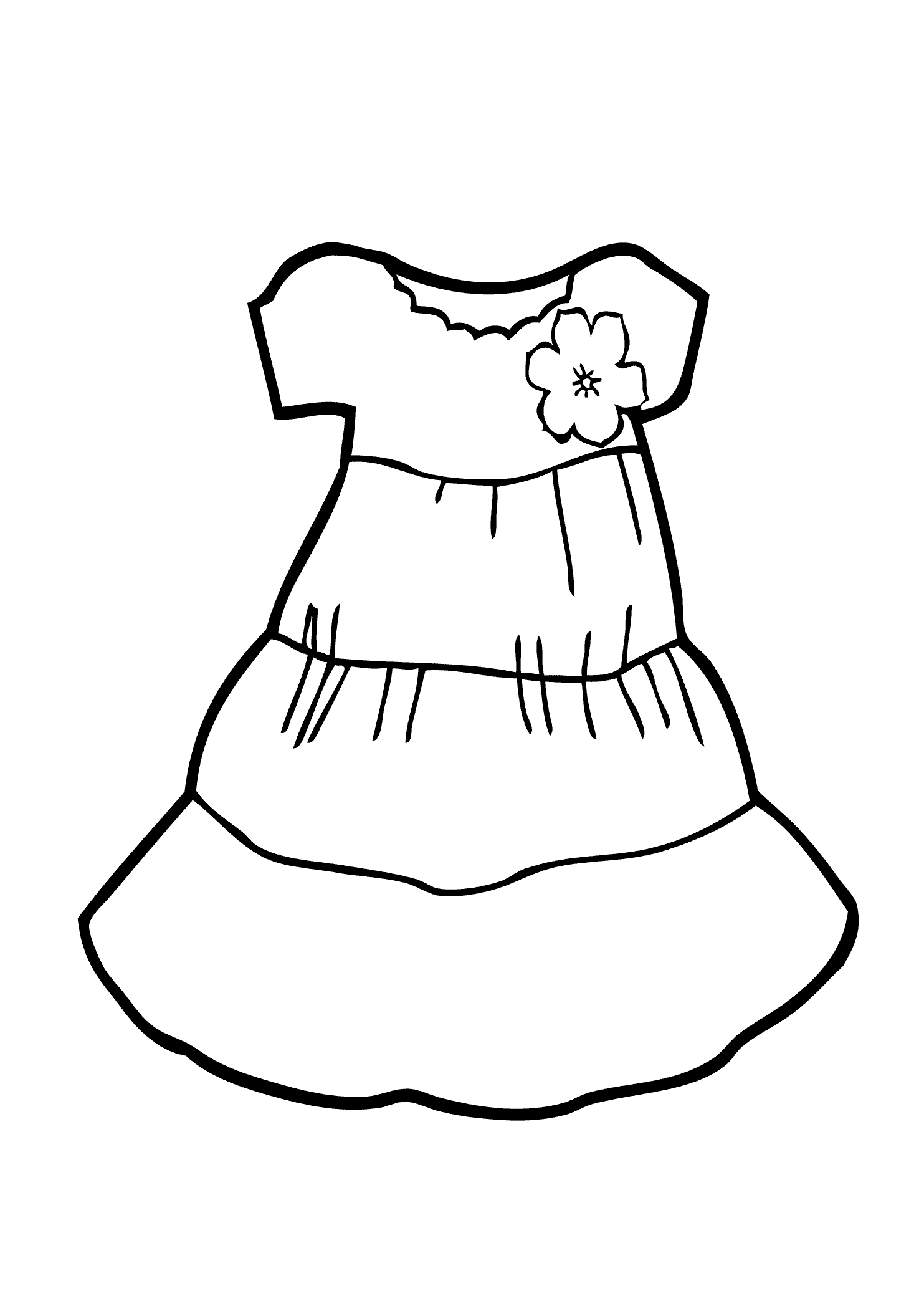 Getting Dressed Coloring Pages At Getcolorings