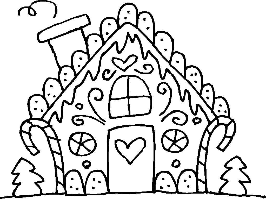 Gingerbread House Christmas Coloring Pages At Getcolorings