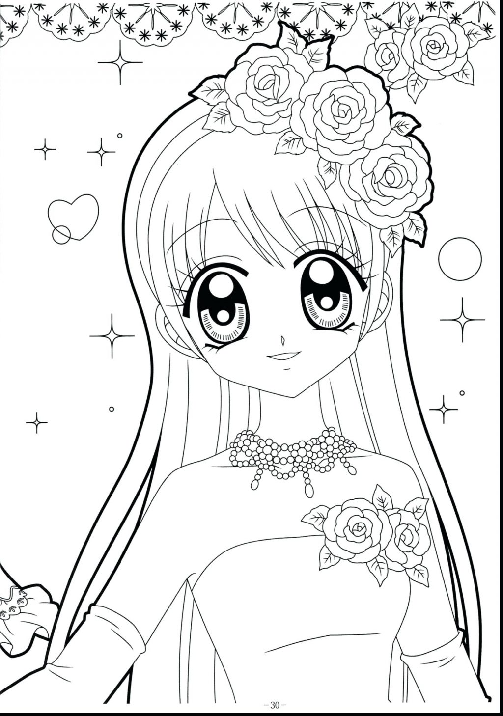 Girl Anime Coloring Pages At Getcolorings