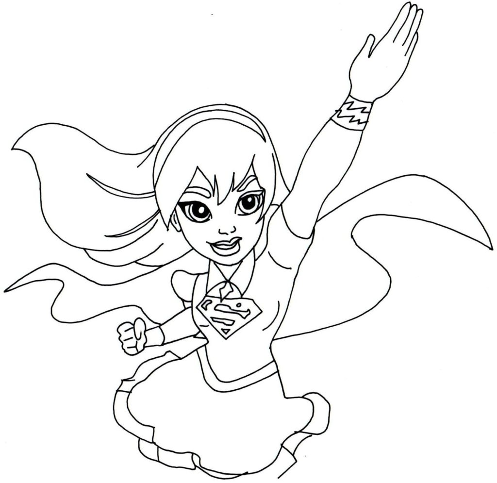 Girl Superhero Coloring Pages At Getcolorings