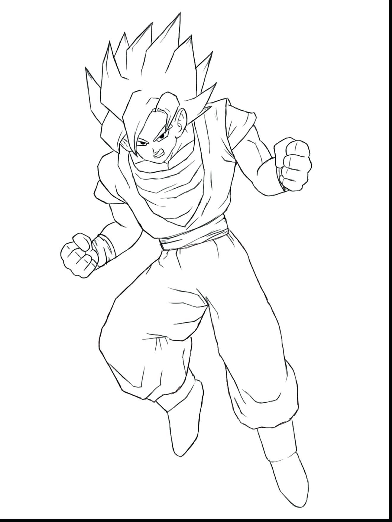 Goku Vs Vegeta Coloring Pages Novocom Top