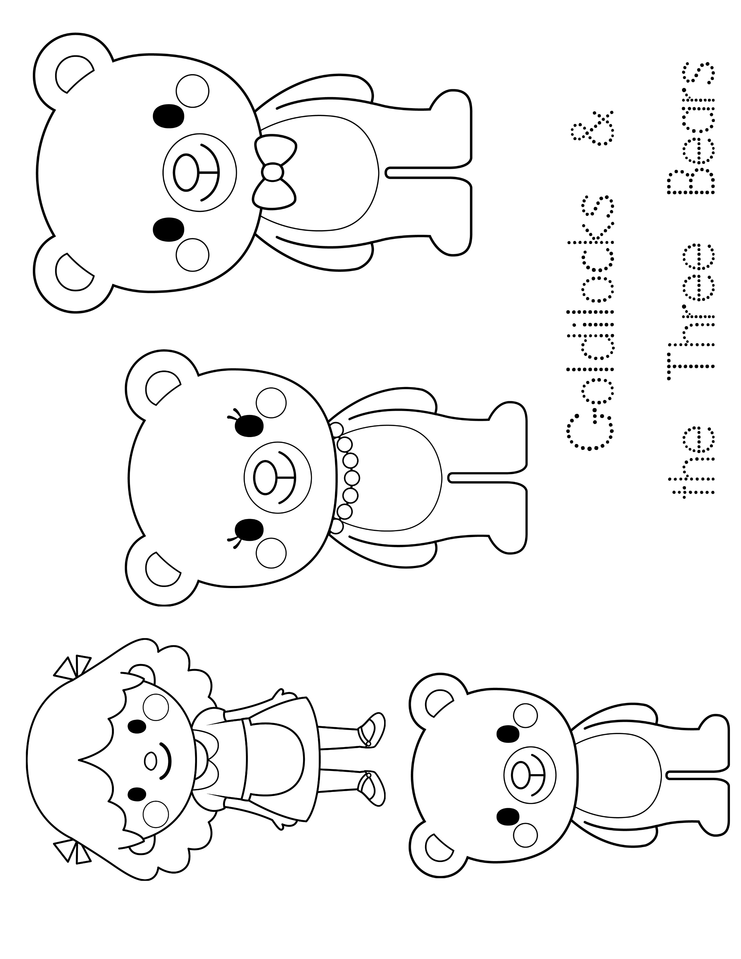 Goldilocks And The Three Bears Coloring Pages Free At