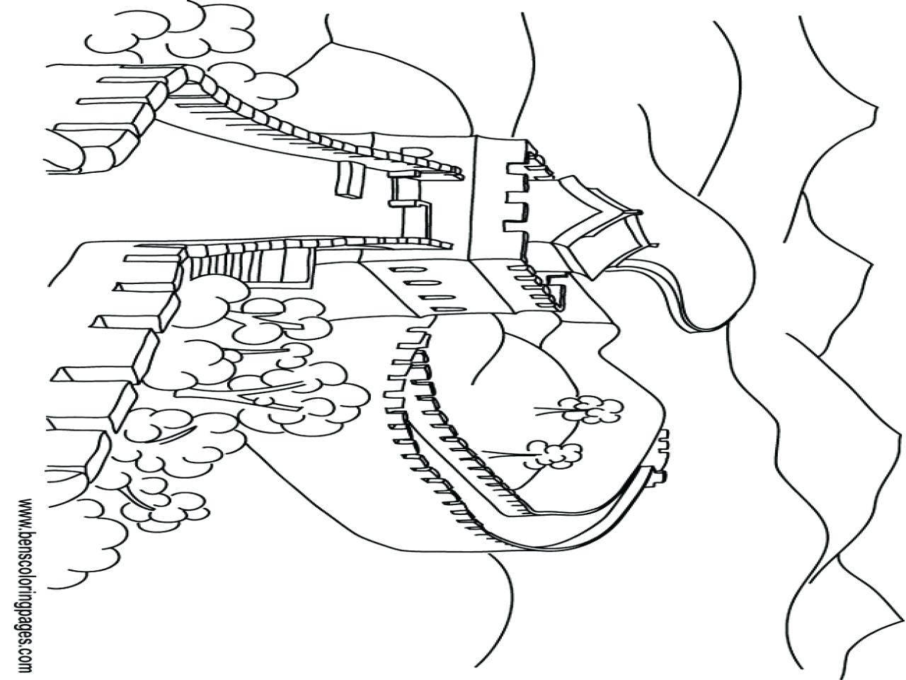 Great Wall Of China Coloring Page At Getcolorings