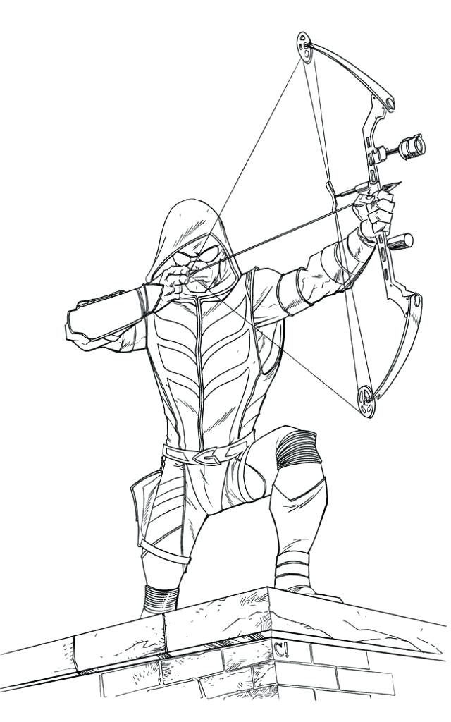 green arrow printable coloring pages at getcolorings