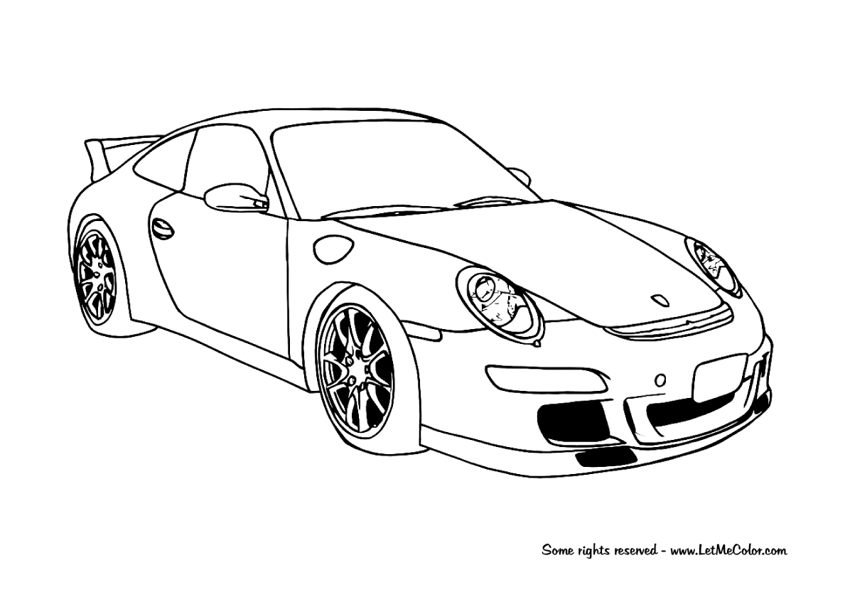 Gtr Coloring Pages At Getcolorings