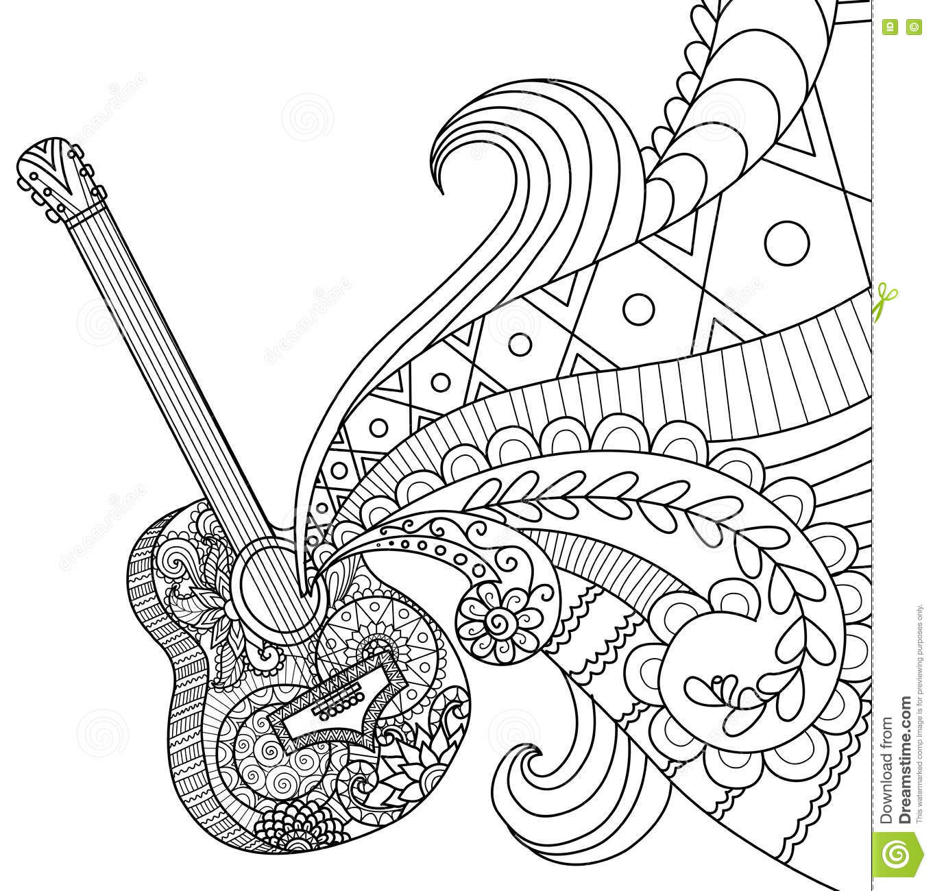 Guitar Coloring Page At Getcolorings