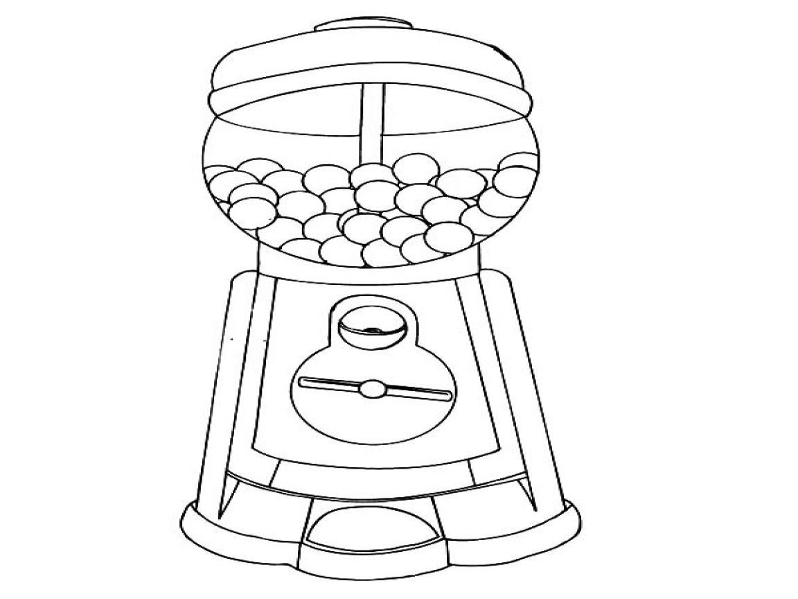 Gumball Machine Coloring Page At Getcolorings