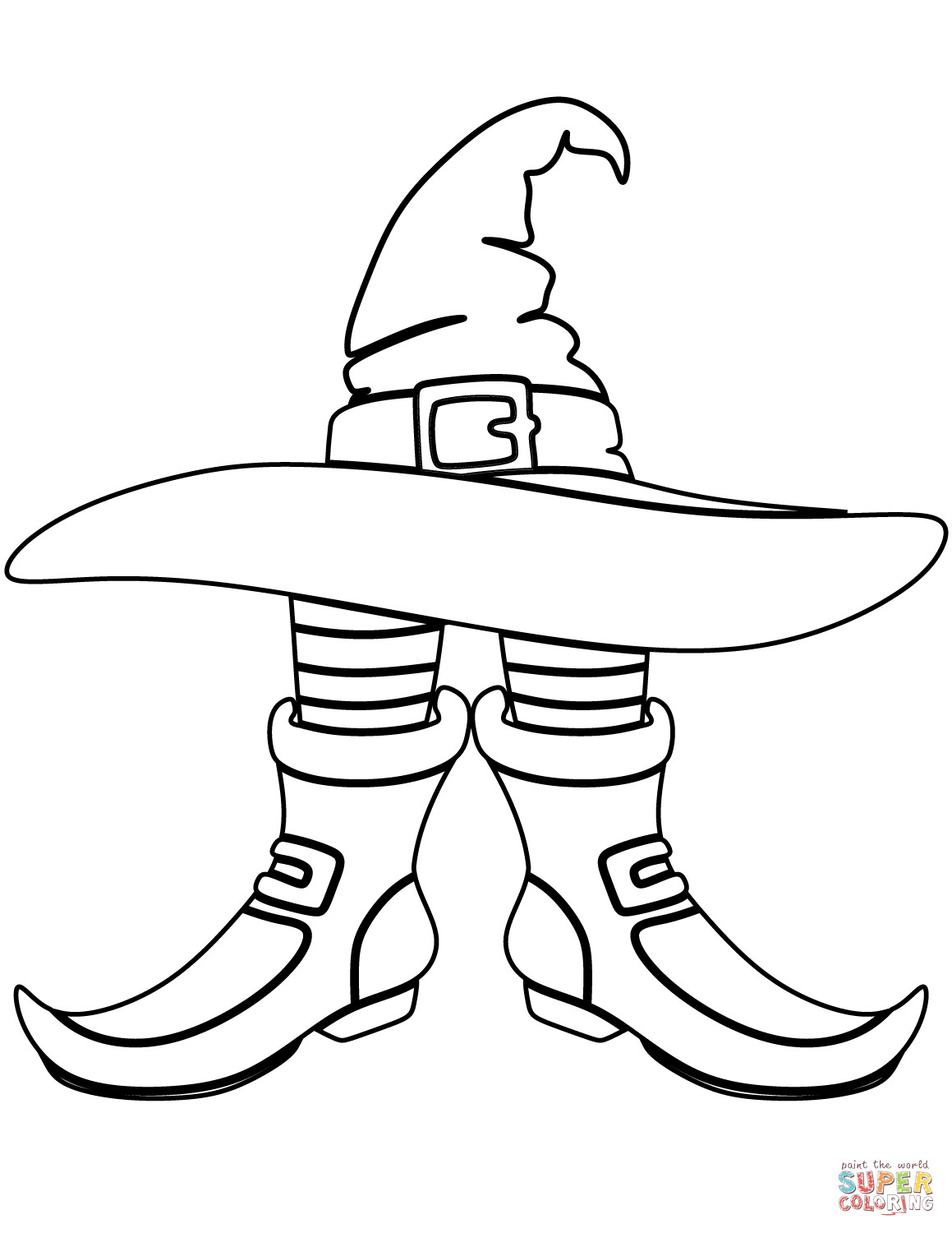 Halloween Witch Hat Coloring Pages At Getcolorings