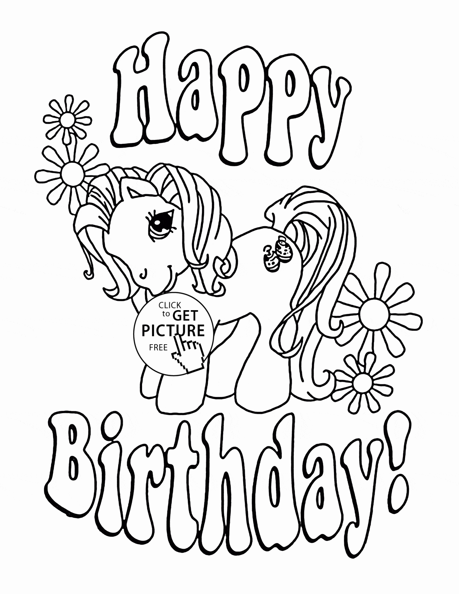Happy Birthday Sister Coloring Pages At Getcolorings