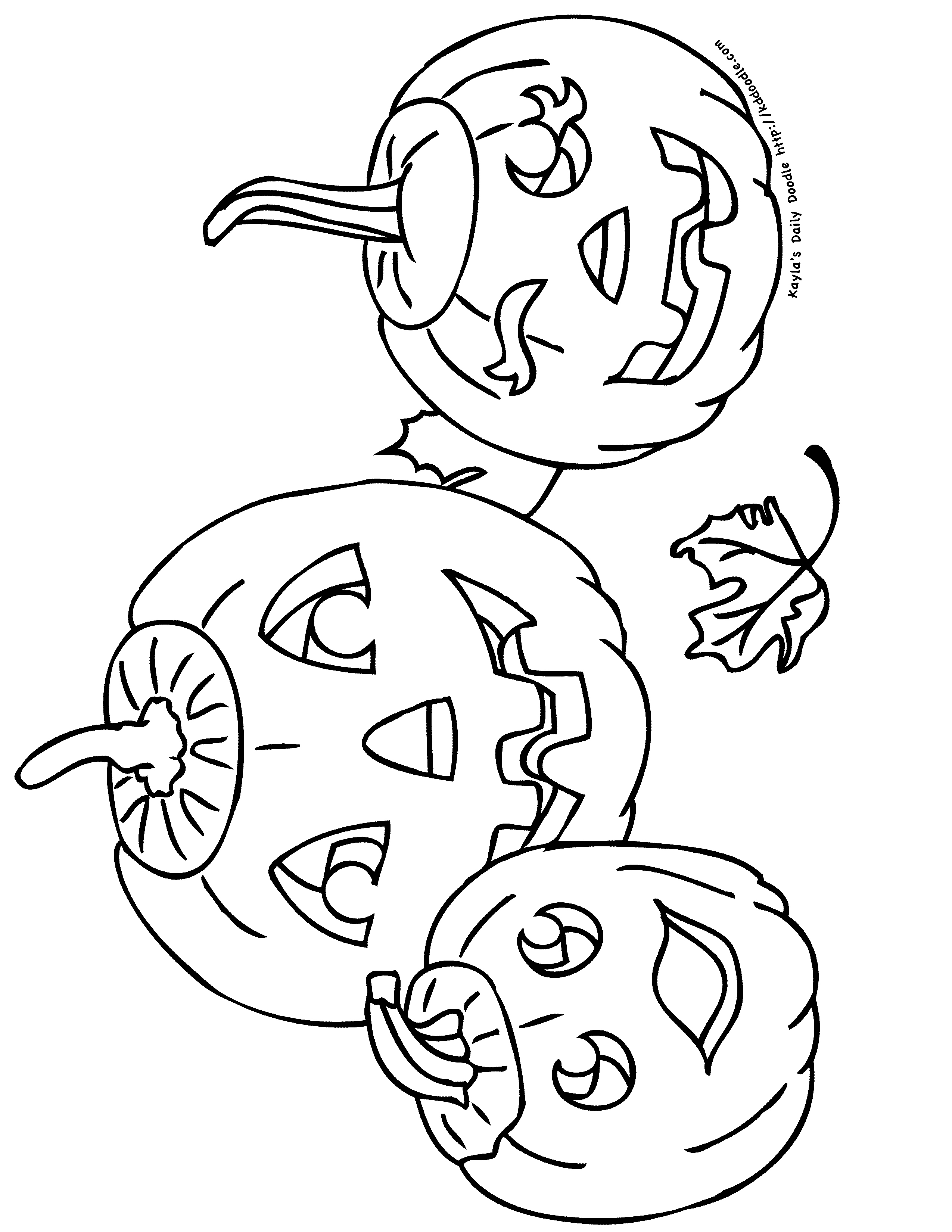 Simple Jack O Lantern Az Coloring Pages Sketch Coloring Page