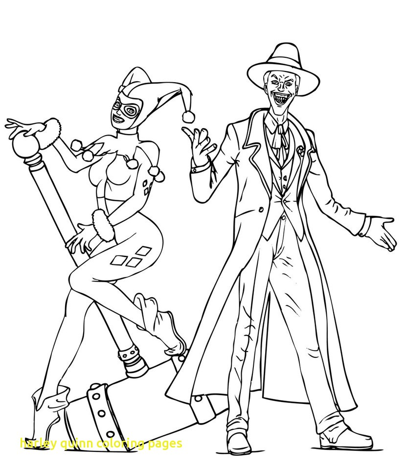 harley quinn and joker coloring pages at getcolorings