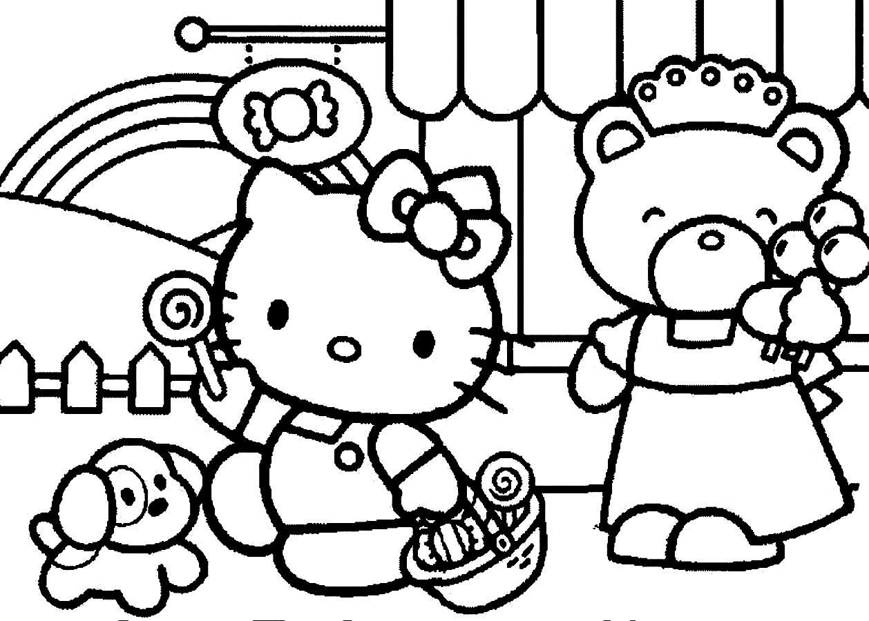 Hello Kitty And Friends Coloring Pages At Getcolorings