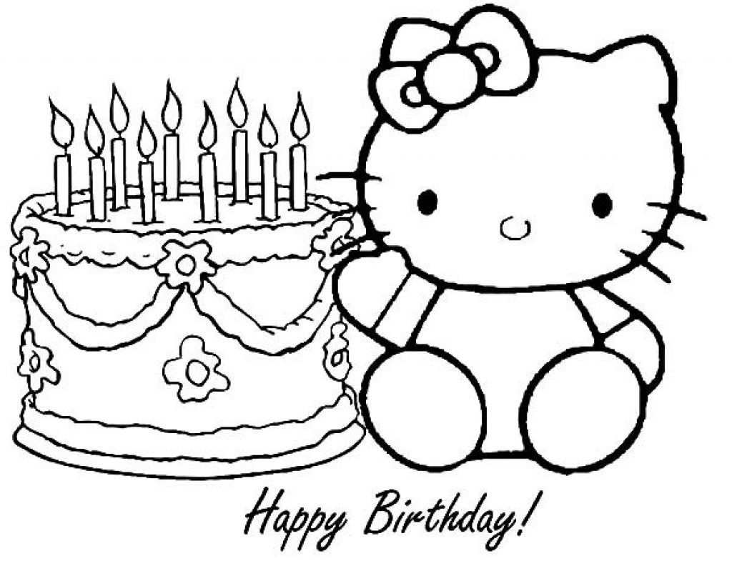 Hello Kitty Birthday Coloring Pages At Getcolorings