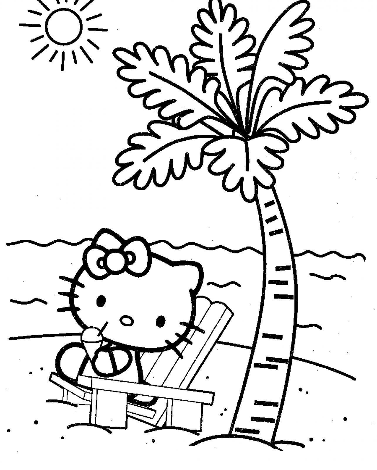 Hello Kitty Summer Coloring Pages At Getcolorings