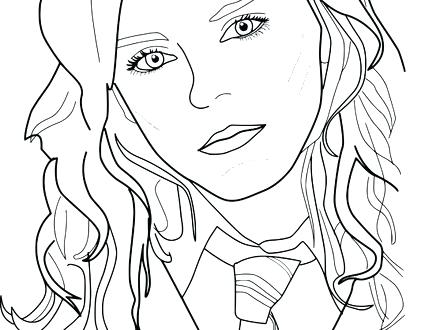 hermione granger coloring pages at getcolorings  free