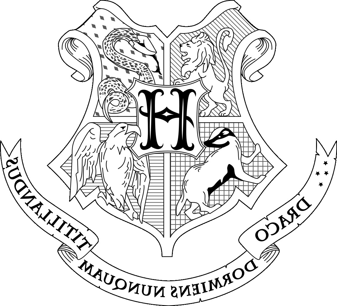 Hogwarts Crest Coloring Page At Getcolorings