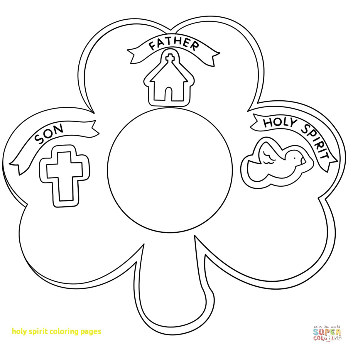 Holy Spirit Coloring Page At Getcolorings