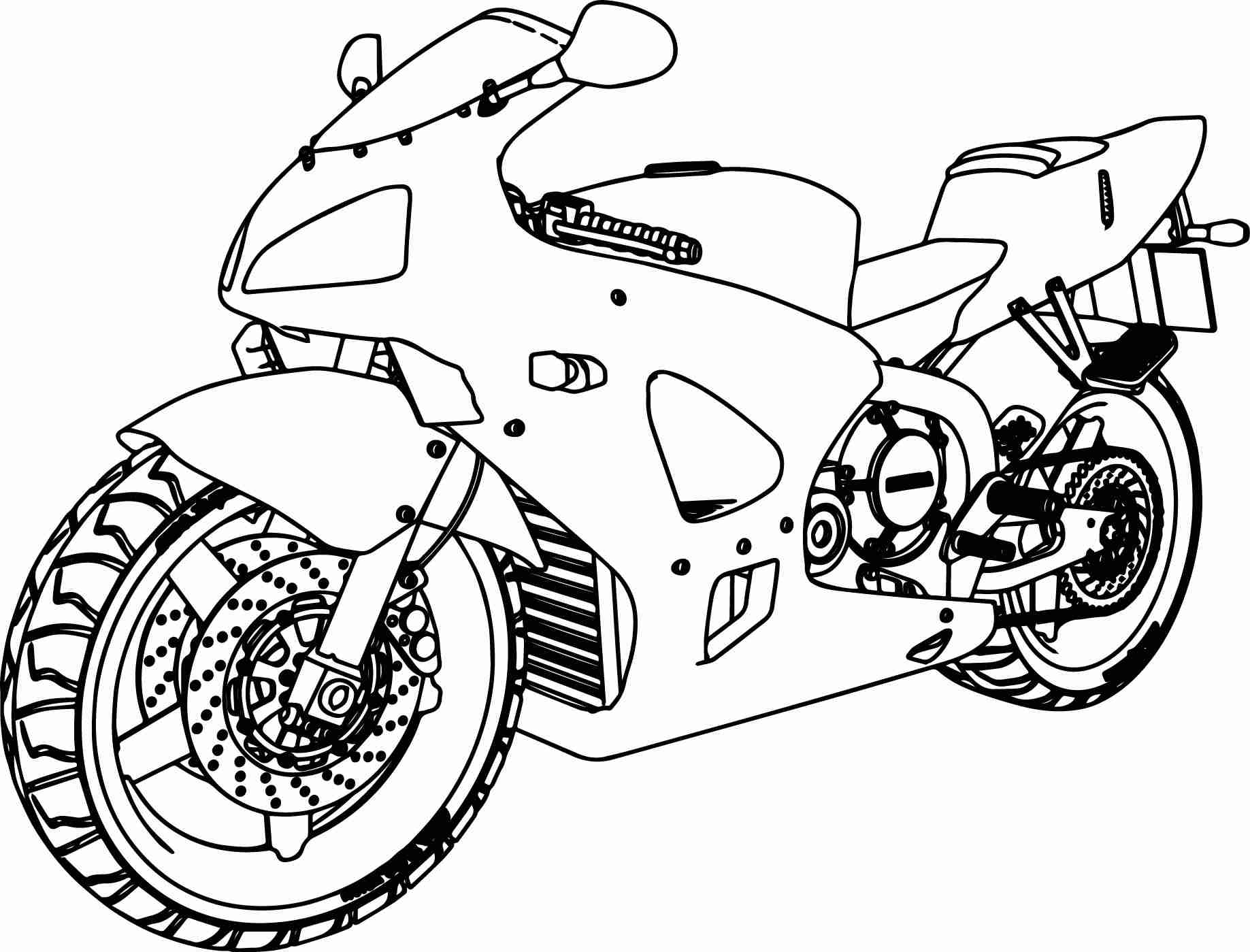 Honda Bike Drawing