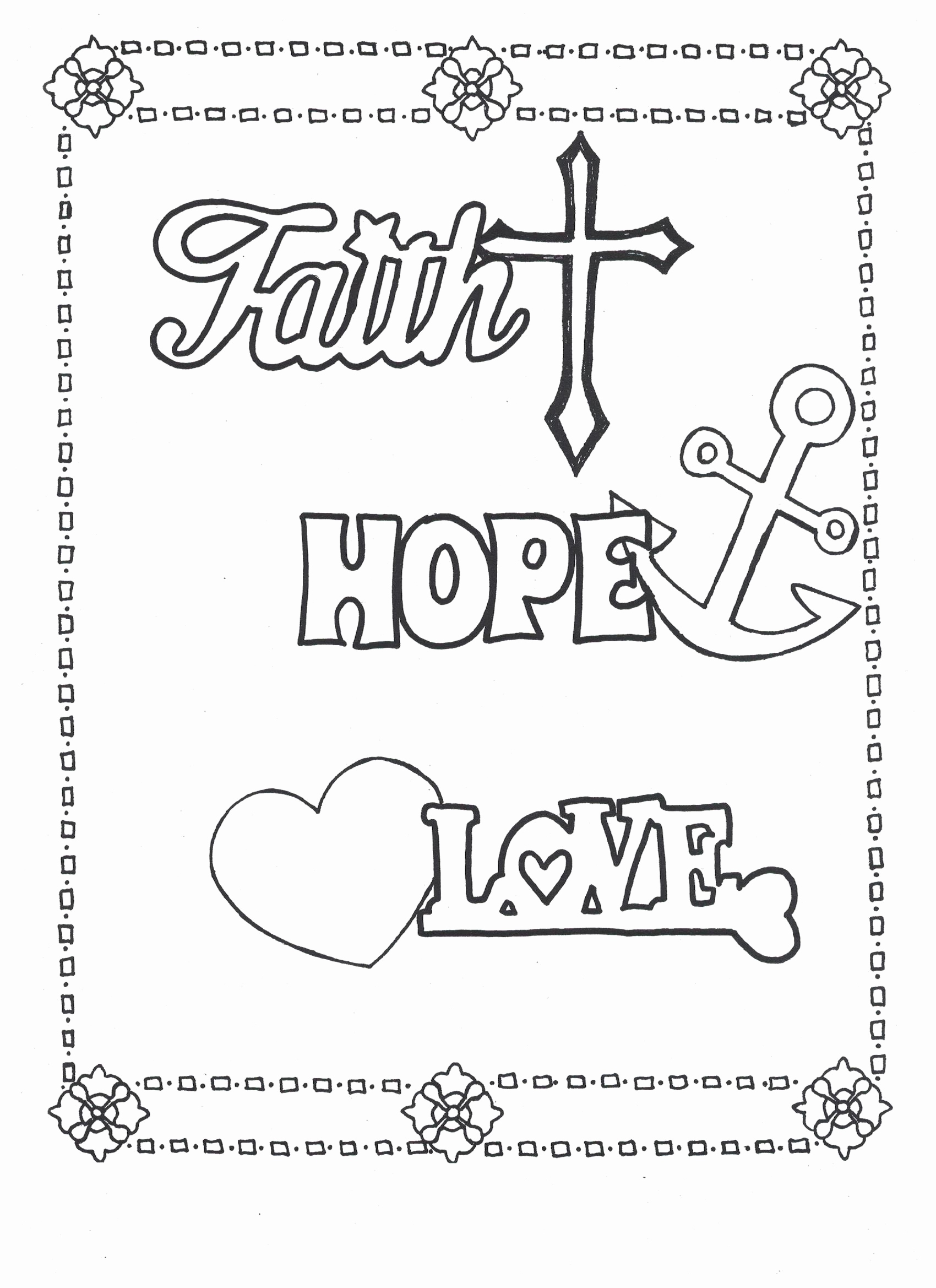 Hope Coloring Pages At Getcolorings