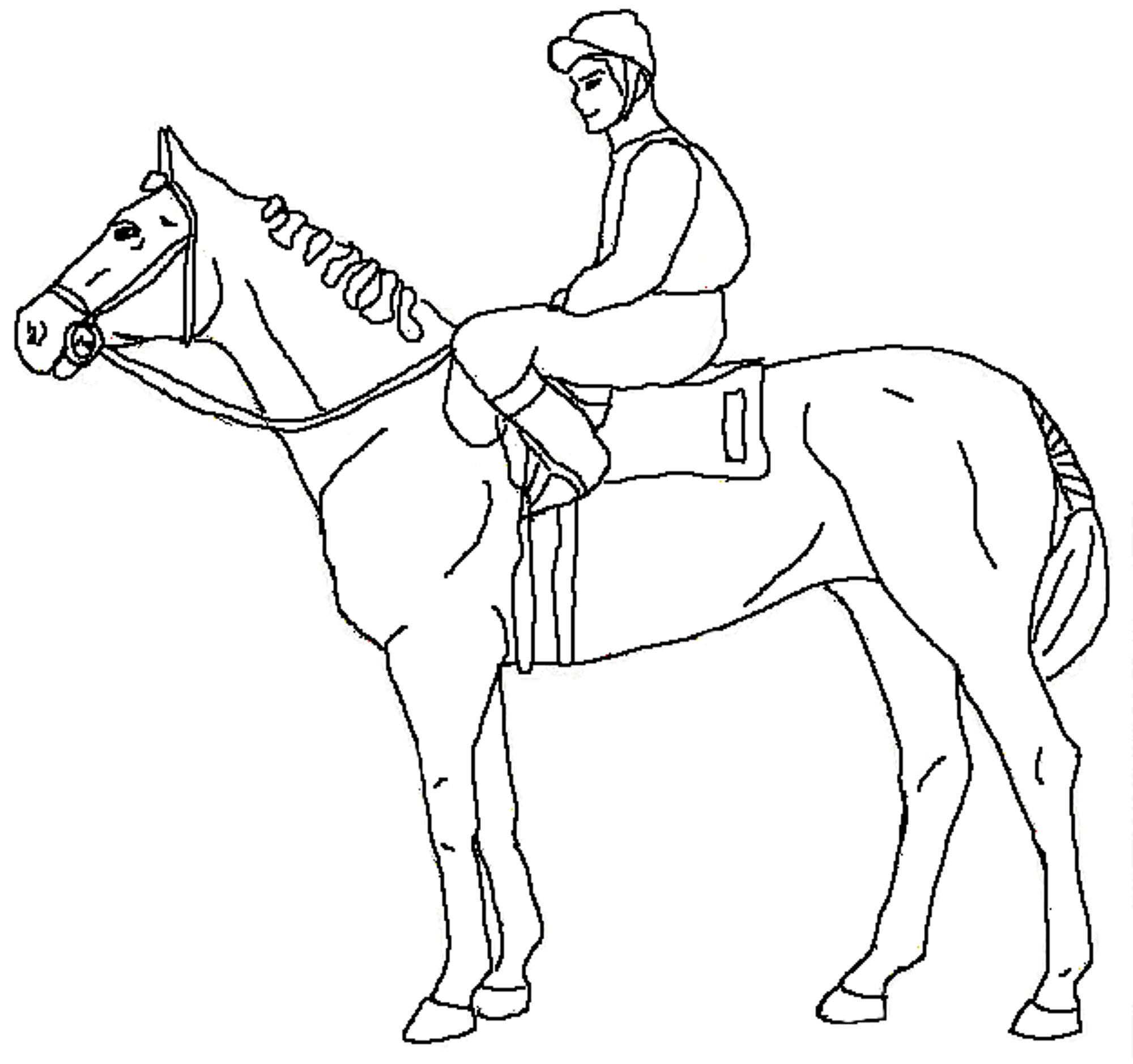 Horse And Rider Coloring Pages At Getcolorings