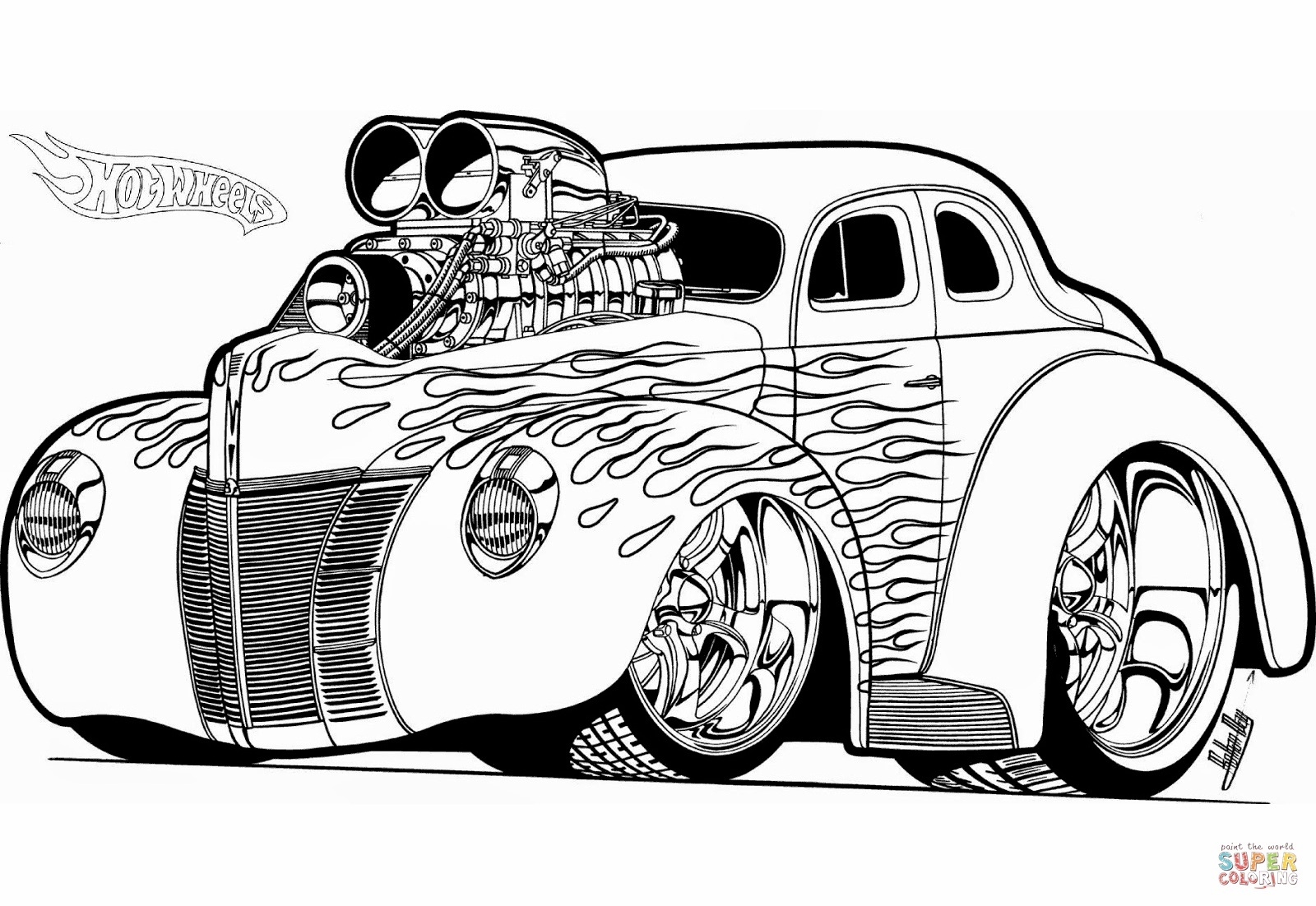 Hot Rod Coloring Pages At Getcolorings
