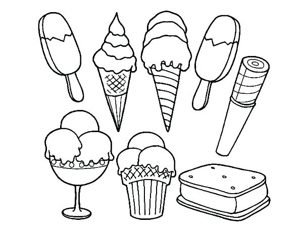 ice cream scoop coloring page at getcolorings  free