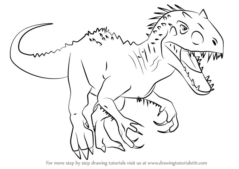 indominus rex coloring page at getcolorings  free