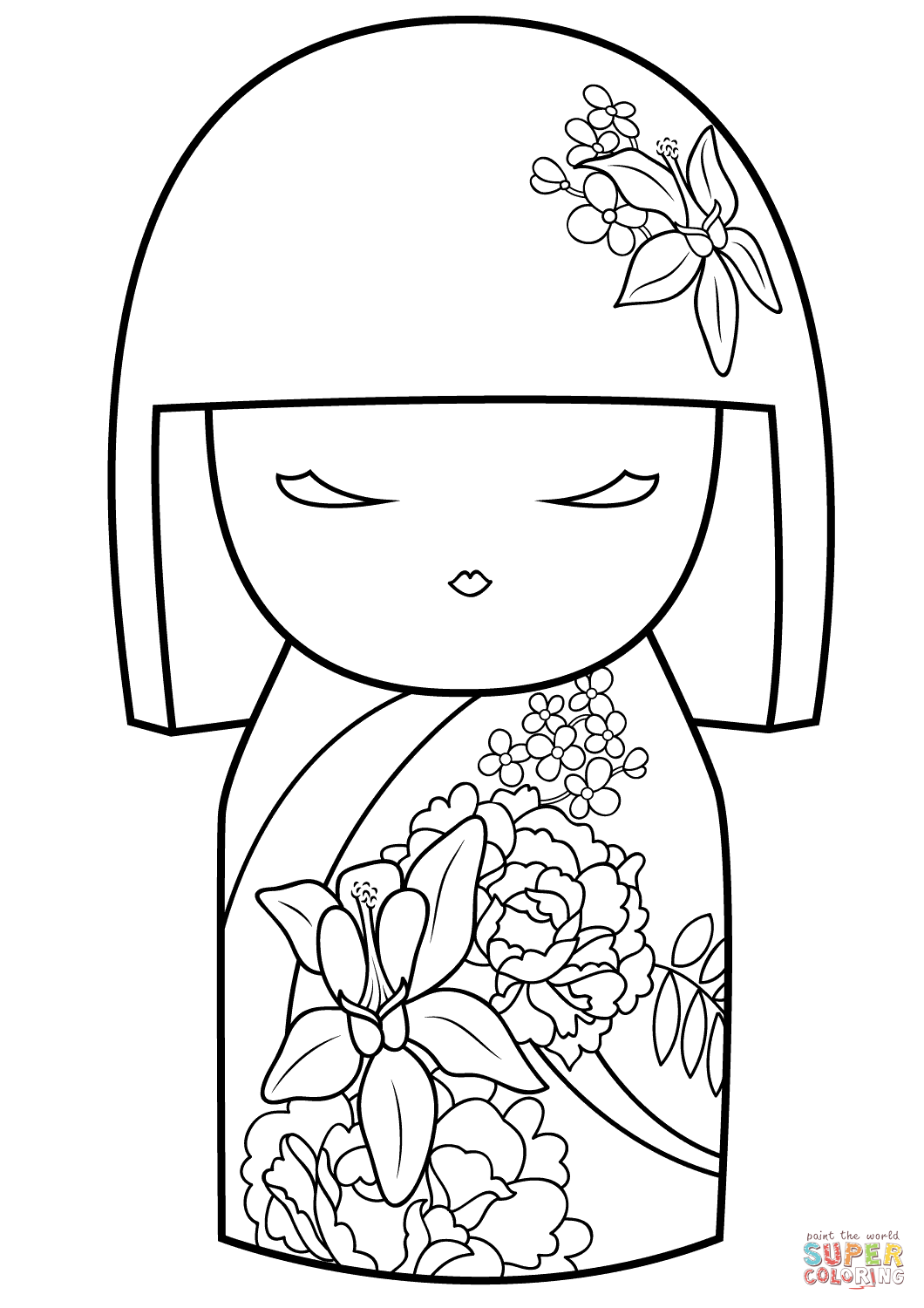Japanese Flower Coloring Pages At Getcolorings
