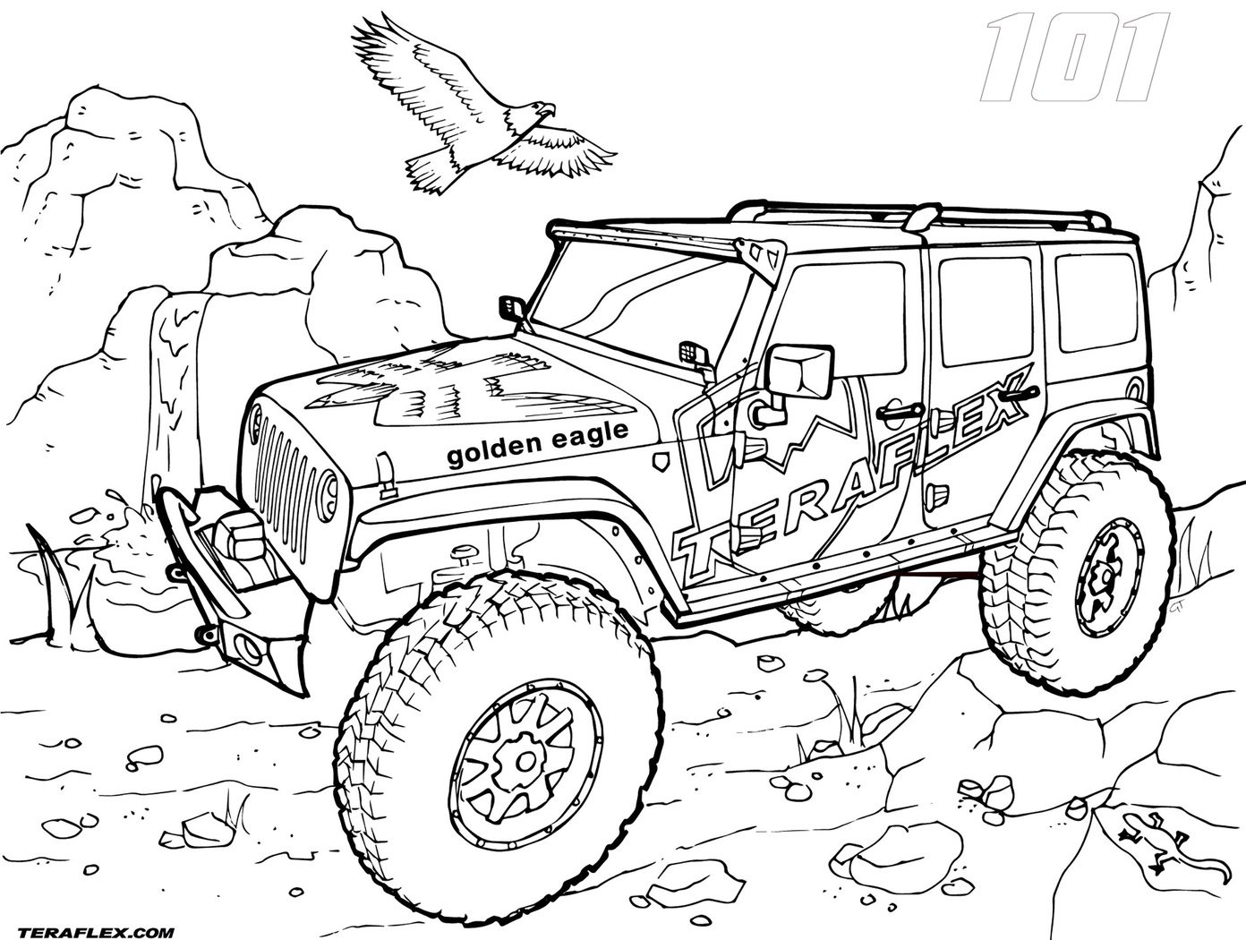Jeep Wrangler Coloring Pages At Getcolorings