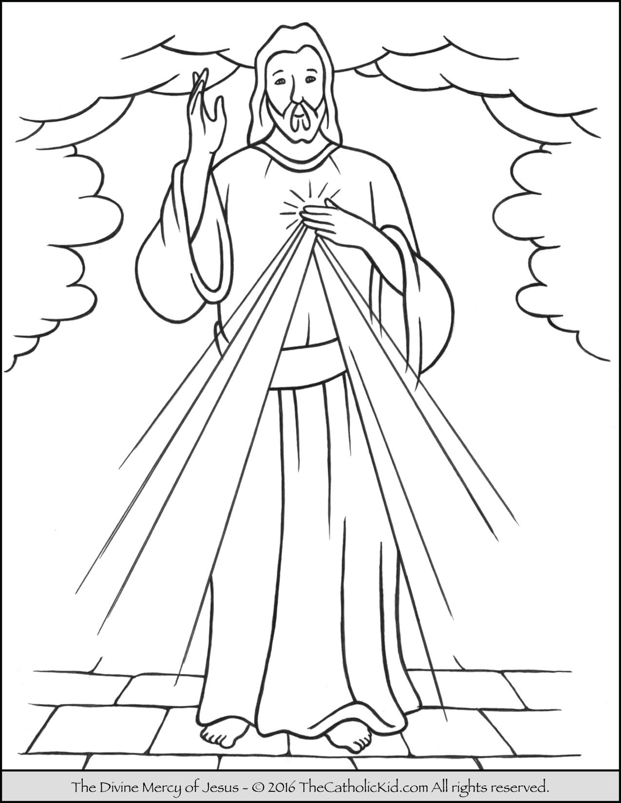 Jesus Ascension Coloring Page At Getcolorings