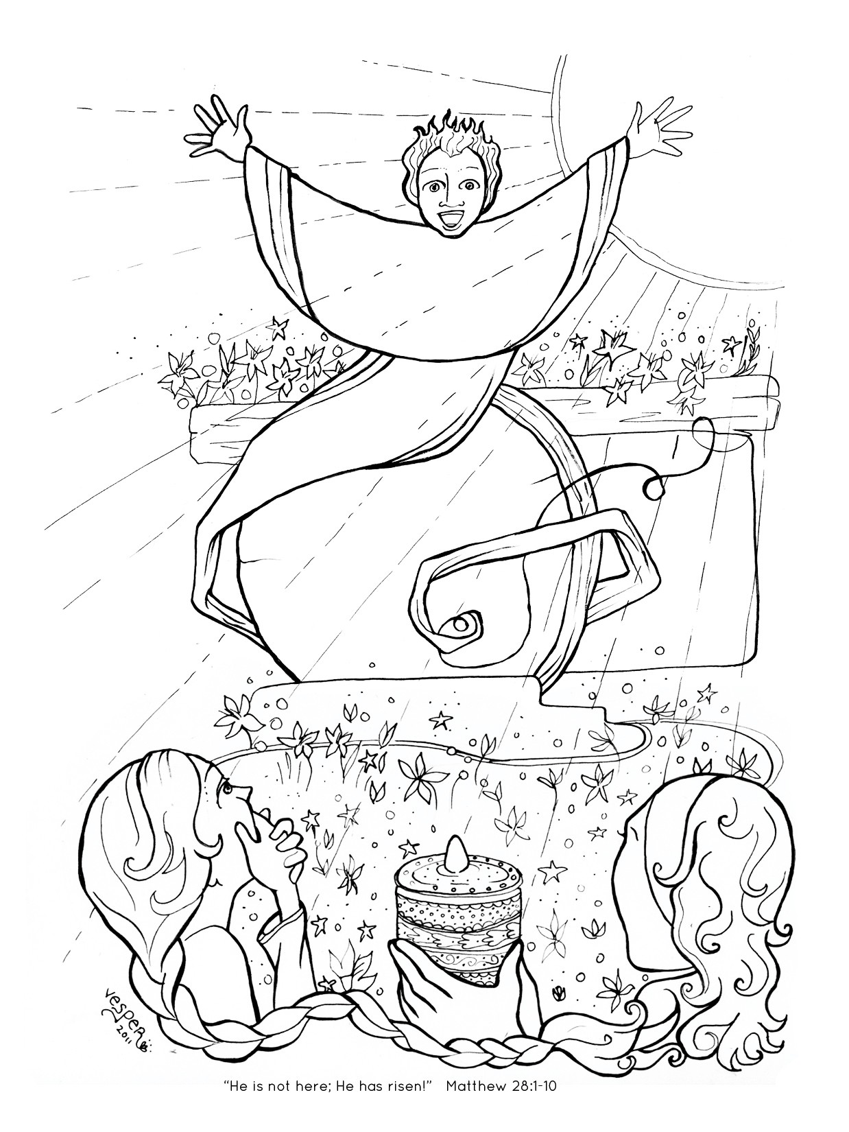 Jesus Empty Tomb Coloring Pages At Getcolorings