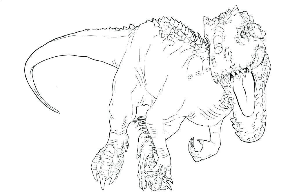 Dibujos Para Colorear De Dinosaurios Jurassic World On Log