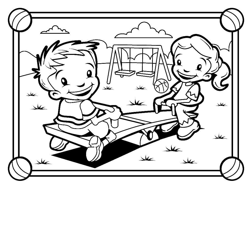 Kids Playing Outside Coloring Pages At Getcolorings
