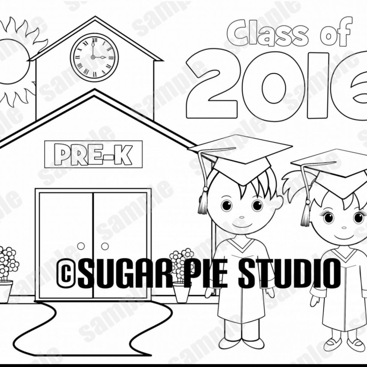 Kindergarten Graduation Coloring Pages At Getcolorings