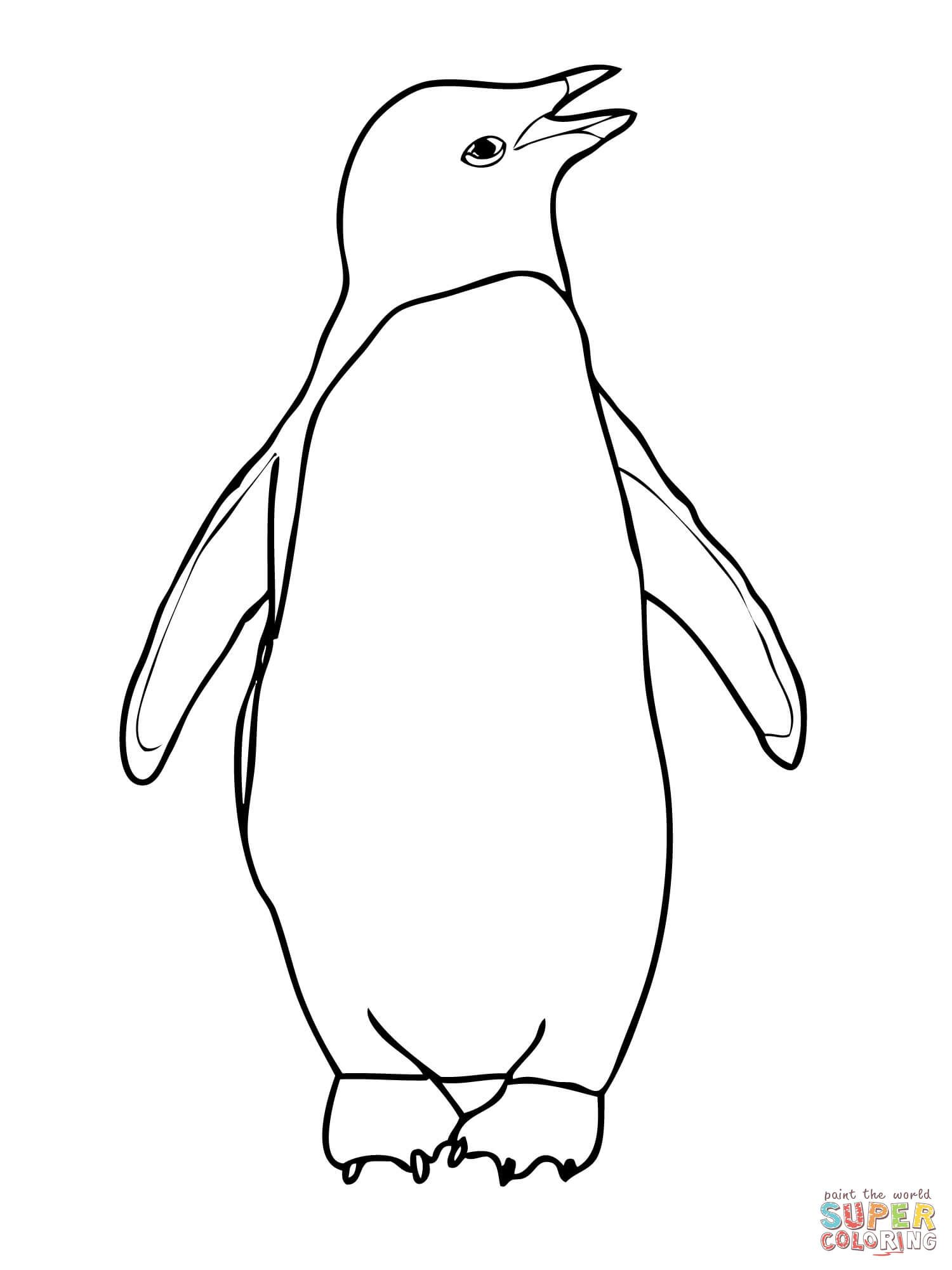 King Penguin Coloring Page At Getcolorings