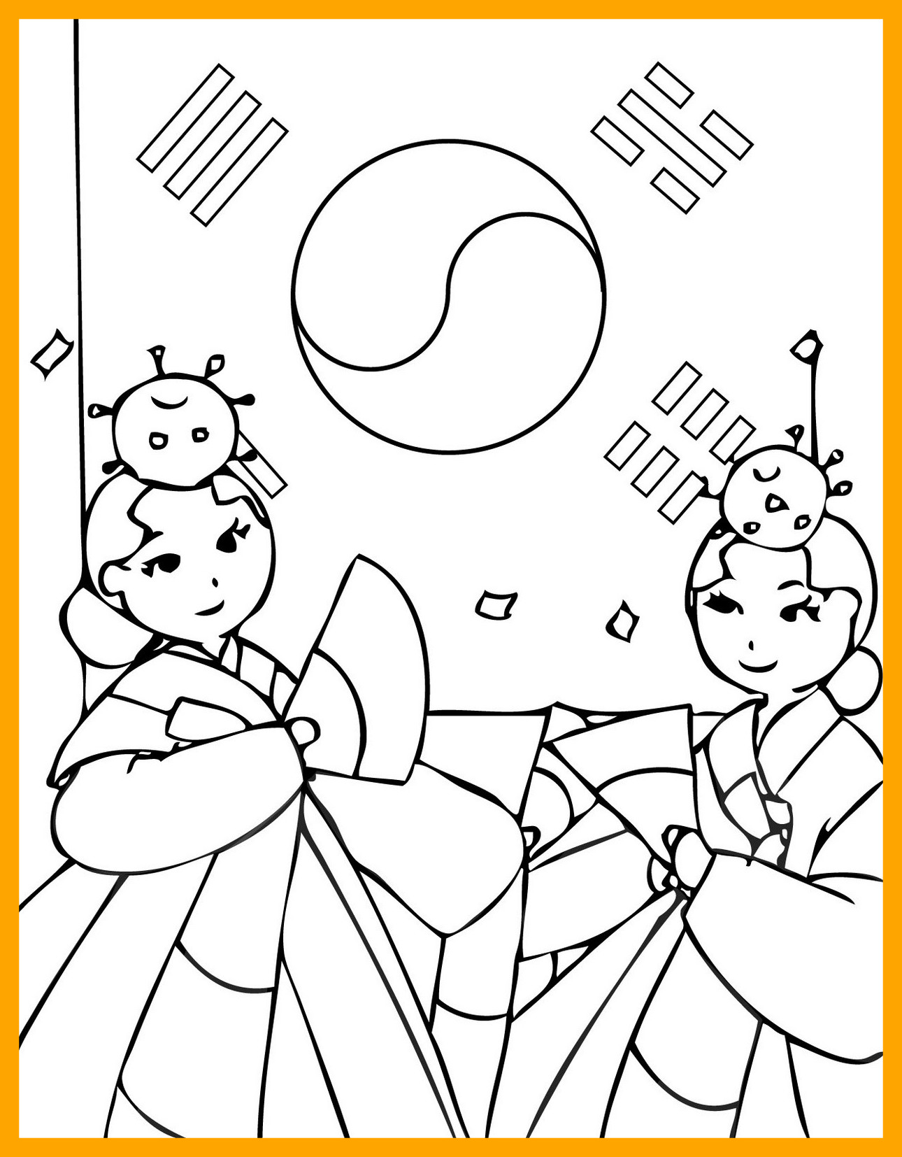 Korean Flag Coloring Page At Getcolorings