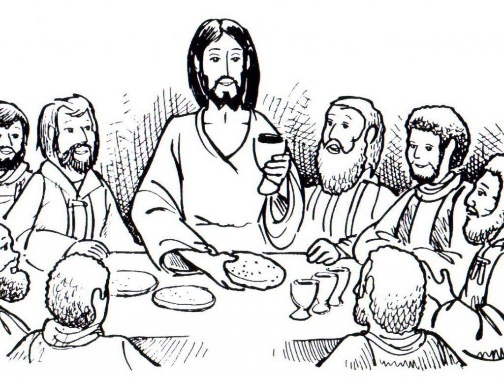 Last Supper Coloring Page At Getcolorings
