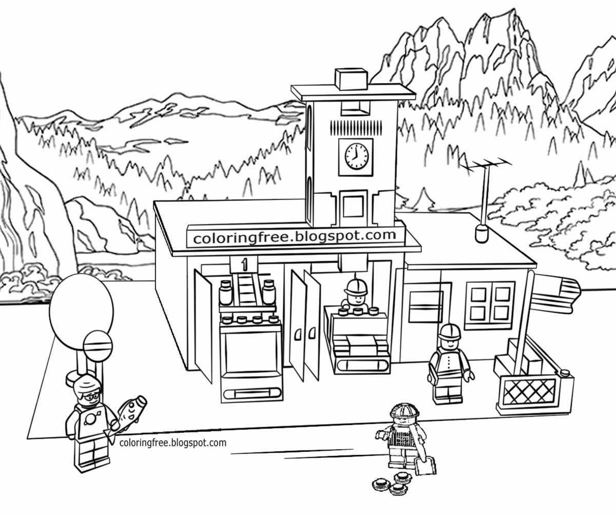 Lego Fire Truck Coloring Pages At Getcolorings
