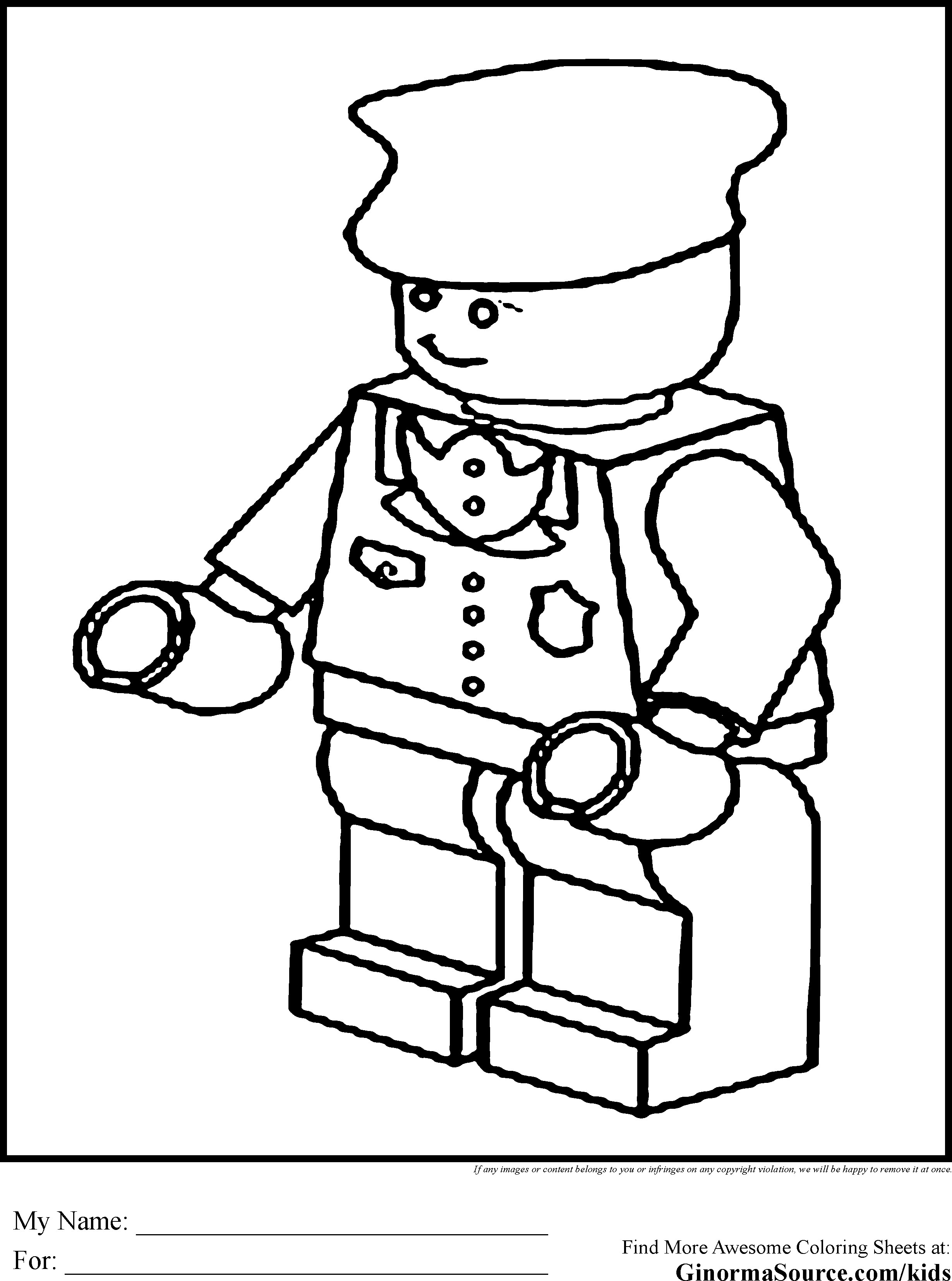 Lego People Coloring Pages At Getcolorings