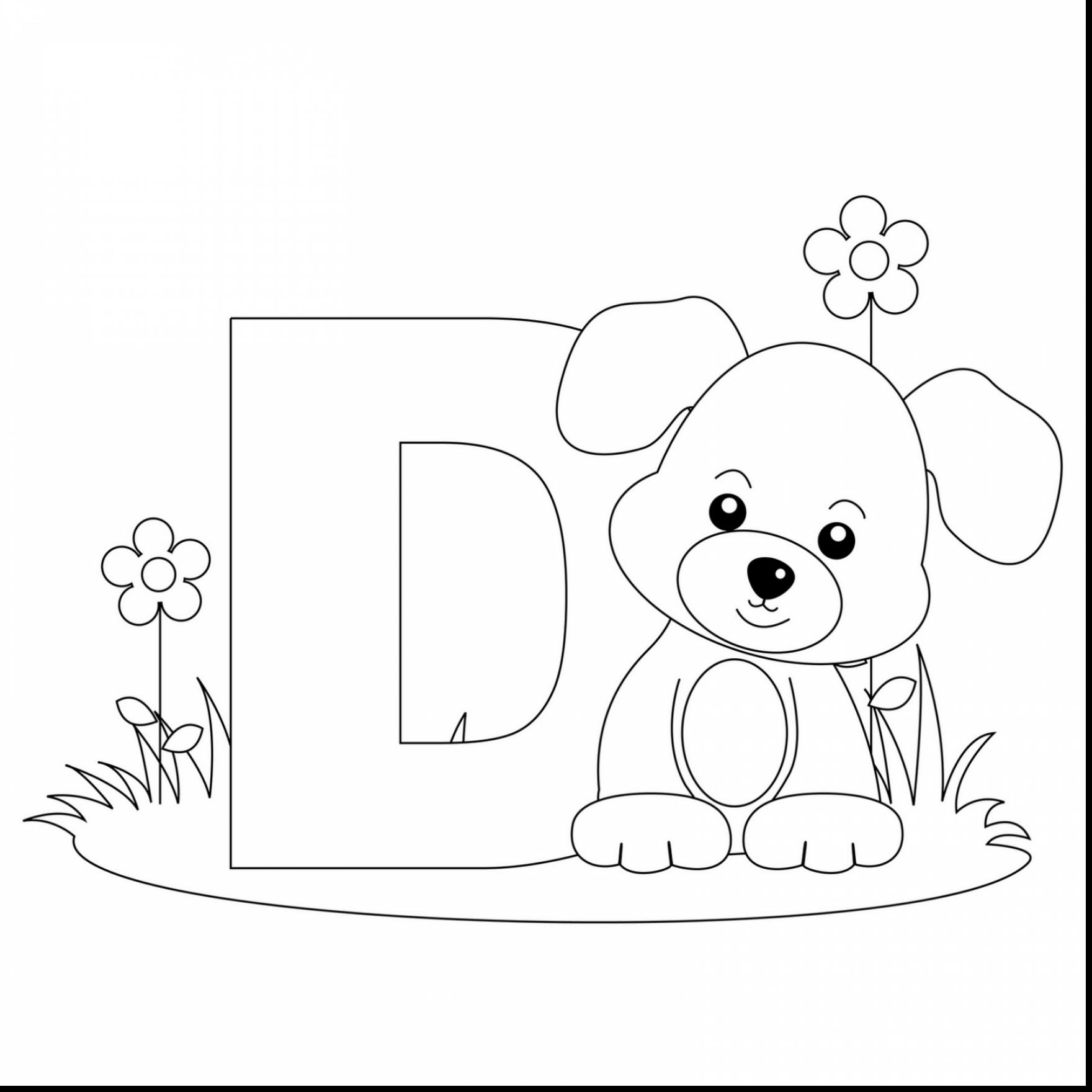Letter D Coloring Pages Preschool At Getcolorings