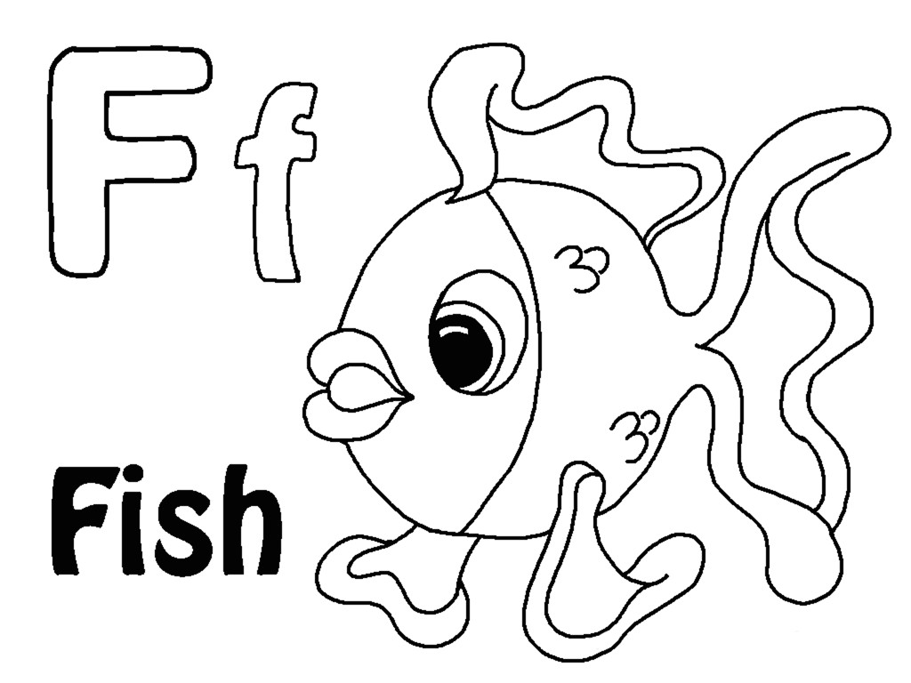 Letter F Coloring Page At Getcolorings