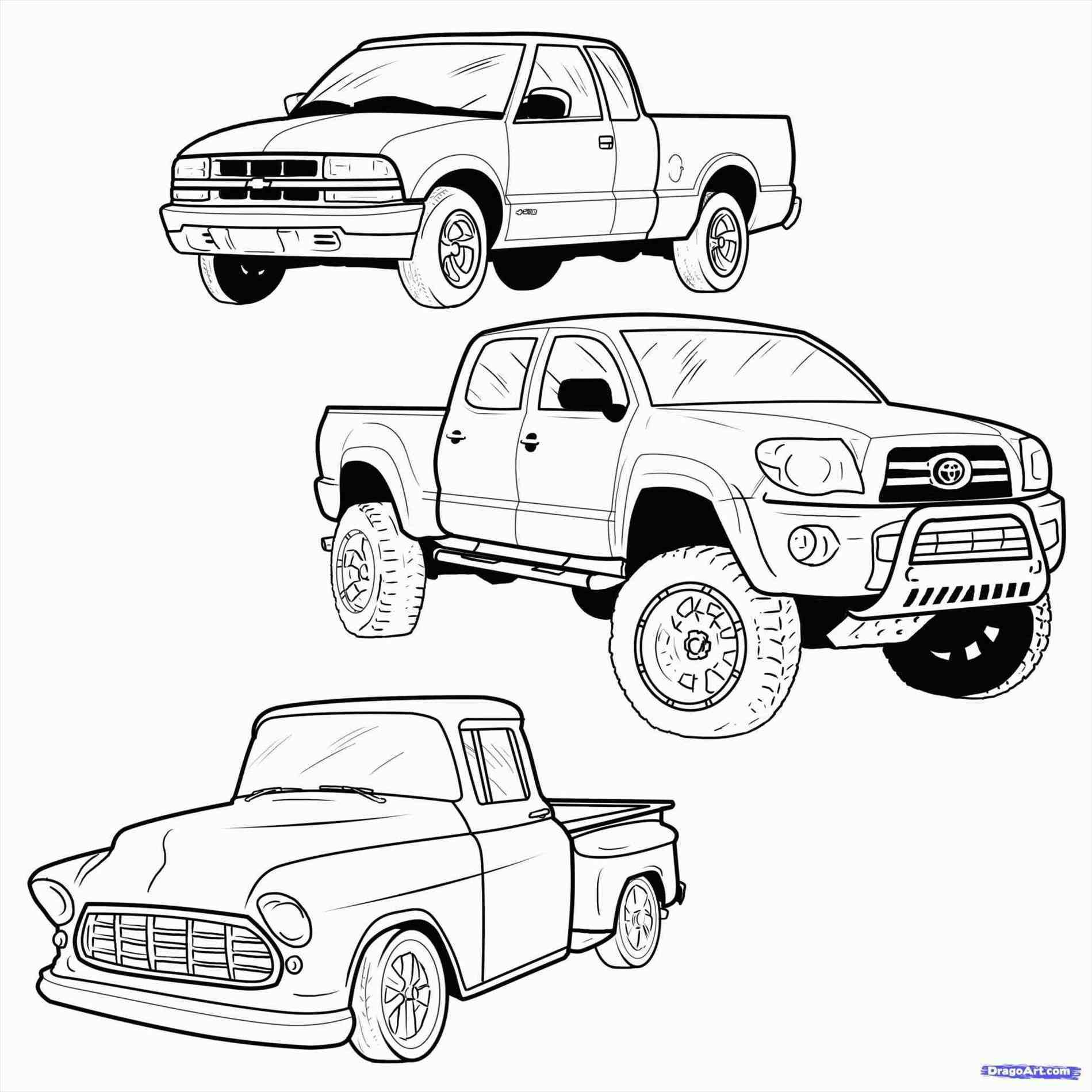 Lifted Truck Coloring Pages At Getcolorings