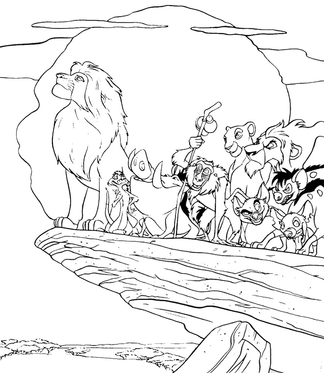 Lion King Characters Coloring Pages At Getcolorings
